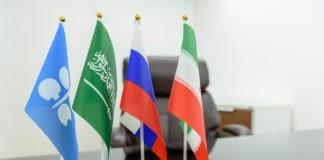 miniature flags of OPEC members