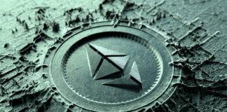 ethereum concept on digital chip