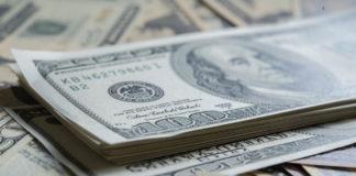 dollar bills closeup shot on the side