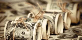 federal reserve concepts dollar bill rolls