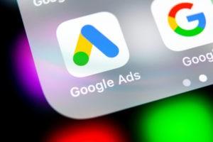 Alphabet' Google ads app on the screen of smartphone