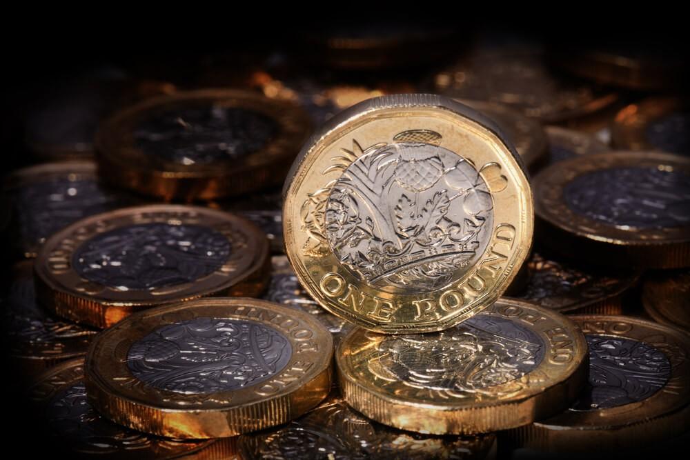 Wibest Broker-Share Market News:  Closeup shot of one British pound coin